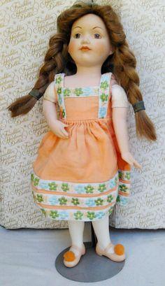 Franklin Heirloom Dolls Gretel 1984 Porcelain Fairy by ManHoard