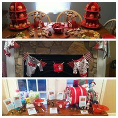 Firefighter/fireman/firetruck themed baby shower