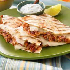 Grilled BBQ Chicken Quesadillas-