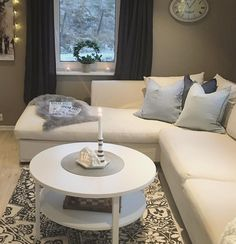 The white Skibby coffee table is a great centre piece in this living room #JYSK #DiscoverJYSK