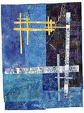 "Blue Moon by Catherine Kleeman (Fiber Wall Art) (44.5"" x 34.5"")"