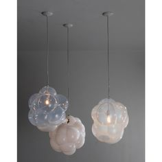 Lustre Biomorphic Bubble - The Invisible Collection - Jeff Zimmerman Lamp Design, Sculpture Projects, Lamp, Light Fixtures, Glass Blowing, Light, Glass, Pendant Lighting, Simple Object