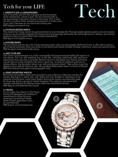 in Fashion Observer Magazine - Tech Style section Michael Kors Watch, Bracelet Watch, Tech, Magazine, Club, Creative, Gifts, Style, Fashion