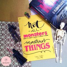 "Dia 2 - ""Nem todos os monstros fazem coisas monstruosas"" - Lydia Martin | Teen Wolf #30DiasDeHandLettering"
