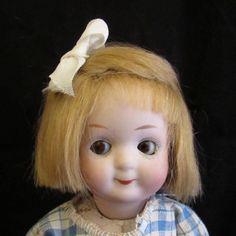 "Antique7"" Gebruder Heubach SquareMark Rare Sleep Eyed Googly Doll #9573 Ca.1914"
