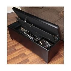 Concealed Gun Safe Cabinet Hidden Rifle Storage Bench Locked Gun Rack