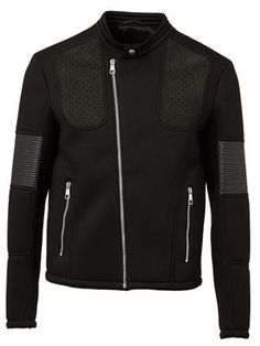 #OF121 - jersey biker jacket