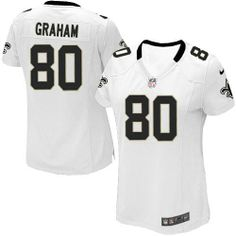 Elite Women's Nike New Orleans Saints #80 Jimmy Graham White NFL Jersey  $109.99