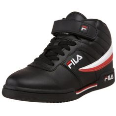 """Fila Big Kid F-13 Sneaker (Big Kid) Fila. $27.50. Padded collar and tongue for comfort and fit. Velcro and lace closure for fit and easy on and off. Leather and synthetic. Shaft measures approximately 4."""" from arch. Non marking flexible outsole. Padded insole for comfort and support. Breathable mesh lining. Rubber sole"""
