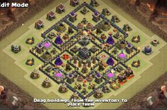 12 Best Town Hall TH9 War, Farming, Hybrid and Trophy Bases with bomb Tower check out 11 more bases here http://cocbases.com/coc-town-hall-th9-base-designs-layouts/  join our town hall 9 bases facebook group https://www.facebook.com/groups/1578862789103699/
