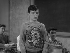 """Beaver and his monster sweatshirt. from the """"Leave it to Beaver"""" episode """"Sweatshirt Monsters"""" (1962 season 5 ep. 35)"""