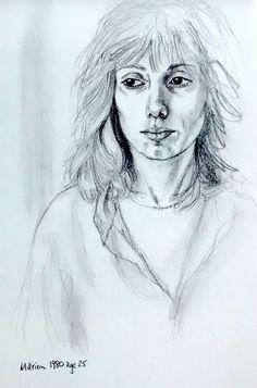 Self portrait age 25 Life Drawing, Original Paintings, Portrait, Drawings, Artist, Prints, Image, Men Portrait, Drawing