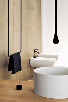 minimalistic towel holder black - Google zoeken