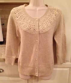 Cotton Blend Cardigan Regular Solid S Sweaters for Women Beige Cardigan, Christmas Sweaters, Nordstrom, Pullover, Clothes For Women, Knitting, Sleeves, Women's Clothing, Accessories