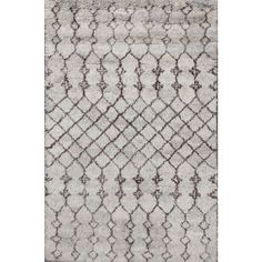 Beni Ourain Moroccan Grey Wool Area Rug (5' x 8') - Overstock™ Shopping - Great Deals on One Of A Kind Rugs