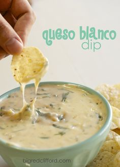 Queso Blanco Dip on MyRecipeMagic.com #quesoblanco #dip
