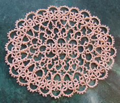Beautiful Vintage Tatted Doily Oval shape pale by chameleonCMC, $7.00