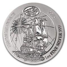 2018 DE Rwanda 1 oz Silver Nautical Ounce Endeavour BU 1 OZ About Uncirculated Silver Coins For Sale, Gold Coins, Silver Samurai, African Giraffe, Imperial Dragon, Coin Store, Uncirculated Coins, Silver Eagles, Silver Dragon