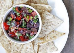 Easy tapenade...great summer appetizer, gluten and dairy free.  http://www.theveggiehouse.com/2013/08/easy-tapenade.html