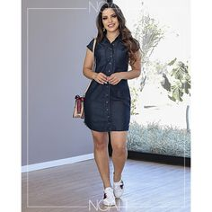 Helen em 2019 curves taken ova! Denim Skirt Outfits, Denim Outfit, Summer Outfits, Casual Outfits, Dress With Sneakers, Dress Shoes, Everyday Outfits, Designer Dresses, Short Dresses