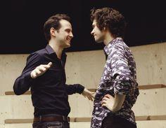 Ben Whishaw and Andrew Scott both in purple. Yeahya!