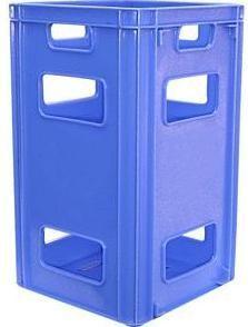 Caixa plástica para garrafão galão de água 18 a 20 litros 31x31x52 cm (ref. CGA20)