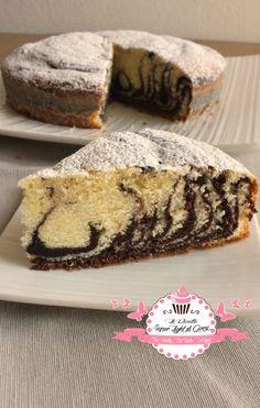 Torta zebrata light - stile vegan (110 calorie a fetta)