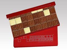 ¡Un pequeño cuadrado puede hacer la diferencia! Venga conocer la nuestro ChocoTelegram :) http://www.mysweets4u.com/es/?o=2,5,29,28,0,0