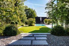 Garten mit natürlichem Swimming-Pool - Gartengestaltung
