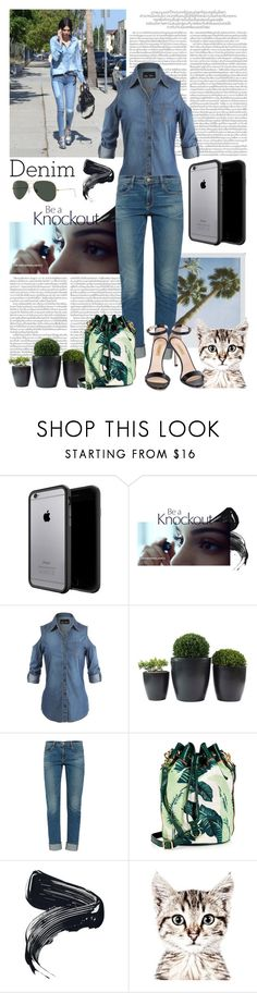 """""""Denim on denim"""" by amethystes ❤ liked on Polyvore featuring Frame, Juicy Couture, Dee Keller and Denimondenim"""