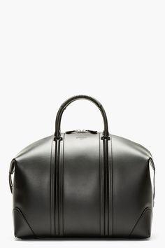 e58d2ba0a74e Givenchy Black Leather Lc Duffle Bag for men
