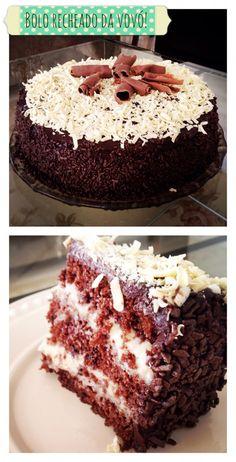 Sou super suspeita quando o assunto é bolo recheado. Amo de paixão! Meu favorito é a massa de chocolate com recheio branco. Hummm!! Impossível não se apaixonar. O bolo é uma delicia...e esse rechei...
