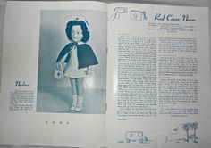 """1949 Mary Hoyer Mary's Dollies """"Wavette"""" 6 Patterns Booklet"""