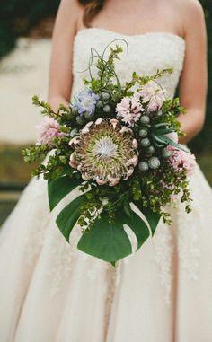 Mixed protea bridal bouquet