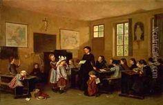 Naughty schoolchildren 1850s