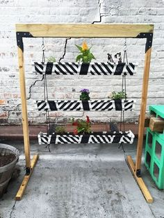 vertical herb garden planter from a gutter, chalk paint, chalkboard paint, gardening, outdoor living, painting, woodworking projects