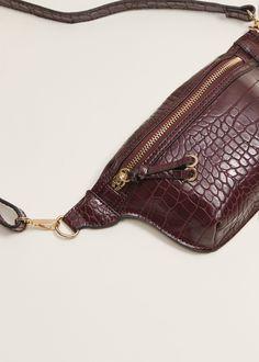 Belt waist bag with zip detail - Woman- Fermuar detaylı kemerli bel çantası – Kadın Belt waist bag with zipper detail - Small Leather Bag, Leather Fanny Pack, Leather Belt Bag, Leather Handbags, Hip Bag, Leather Bags Handmade, Fashion Bags, Crossbody Bag, Mango France