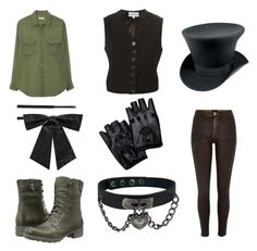 Fnaf 3 phantom Freddy inspired outfit by mangle87 on Polyvore featuring polyvore, fashion, style, Equipment, Ann Demeulemeester, River Island, Cobb Hill and Yves Saint Laurent