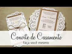 (34) Convite de Casamento | Faça você mesmo | Noiva sendo Noiva - YouTube