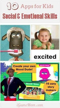 Apps Helping Kids Develop Social Emotional Skills - emotion recognition, articulation, positive interaction with others ...