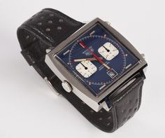 Heuer Monaco, Worn by McQueen — Part Two Tag Heuer Monaco, Scarlett O'hara, Fancy, Telling Time, Steve Mcqueen, Auction Items, Beautiful Watches, Vintage Watches, Luxury Watches