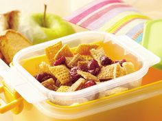 Kids can help assemble this 10-minute snack mix. Raisins add a nutritional boost.