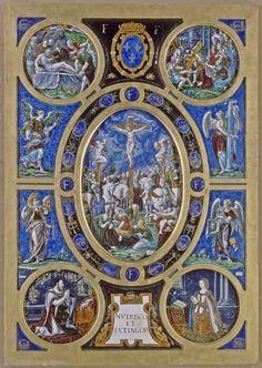 Léonard LIMOSIN  Retable de la Crucifixion  1553  Limoges  Émail peint sur cuivre  H. : 1,06 m. ; L. : 0,74 m.  Provient de la Sainte-Chapelle de Paris  | Musée du Louvre | Paris