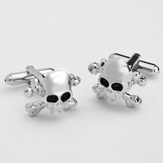 WeddingDepot.com ~ Skull Cufflinks with Personalized Box