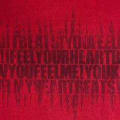 モダンデザインのインテリアファブリック/Heart Beat/SP FABRIC × RECORDS Heart Beat, In A Heartbeat, Beats, Neon Signs, Fabric, Tejido, Tela, Cloths, Fabrics