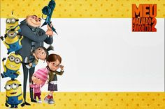 Despicable Me 2: Free Printable Invitations and Candy Bar Labels.