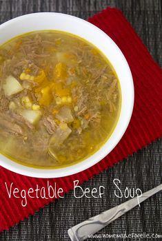 Homemade Vegetable Beef Soup | homemadeforelle.com