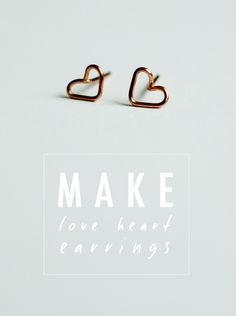 DIY: heart earrings