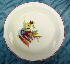 Items similar to Crown Ovenware Pie Plate 1938 Mexican Southwest Scene Red Blue Yellow Green on Etsy Blue Yellow, Red And Blue, Creamy Eggs, Crown Logo, Currier And Ives, Pie Plate, Floral Border, Flower Show, China Dinnerware
