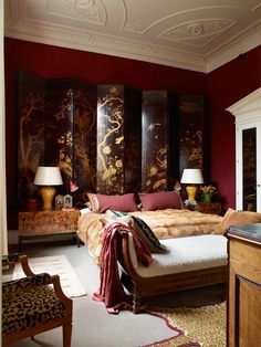 Charming eclectic bedroom design by Douglas Mackie A selection of bedroom design by Boca do Lobo with world renowed designers and magnificent interiors with groundbreaking furniture Home Interior, Interior Decorating, Interior Design, Luxury Interior, London Apartment, Soft Seating, Master Bedroom Design, Bedroom Designs, Eclectic Style